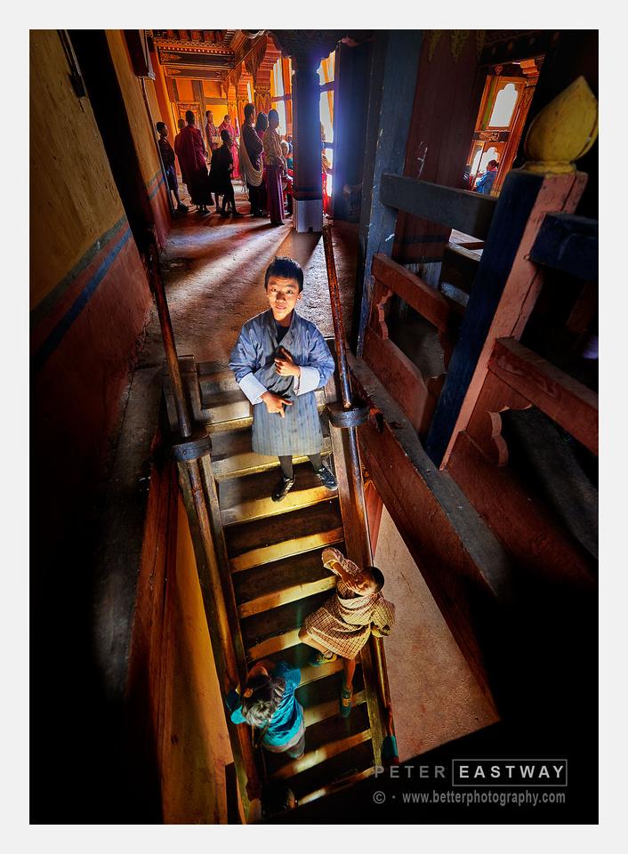 Paro Staircase, Bhutan