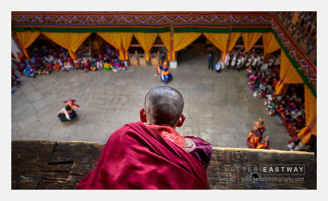 Monk, Paro Dzong, Bhutan