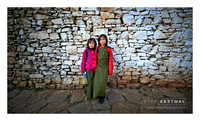 Young Girls Paro Dzong - Bhutan
