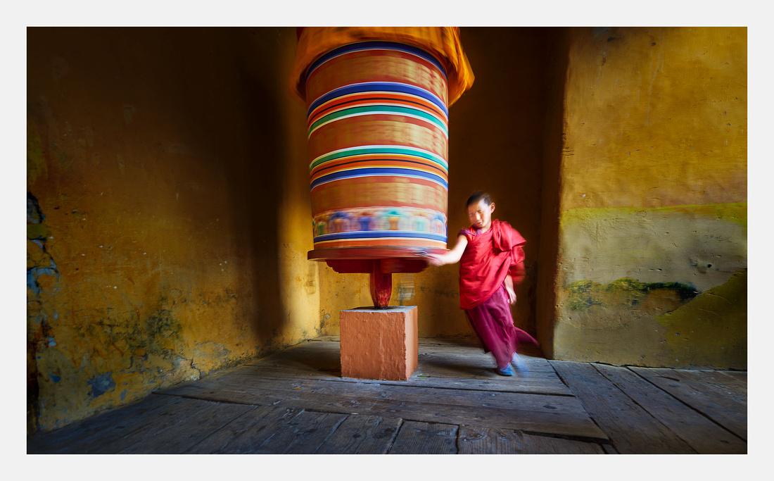 Boy Monk Big Wheel